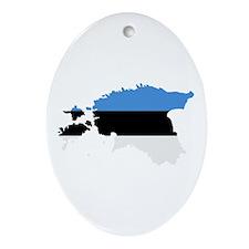Estonia map flag Ornament (Oval)