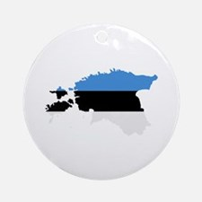 Estonia map flag Ornament (Round)