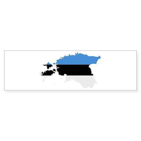 Estonia map flag Sticker (Bumper)