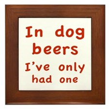 In dog beers I've only had one Framed Tile