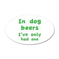 In dog beers I've only had one 22x14 Oval Wall Pee
