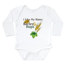 I Like My Water Long Sleeve Infant Bodysuit