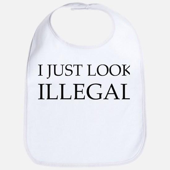 I Just Look Illegal Bib