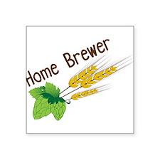 "Home Brewer Square Sticker 3"" x 3"""