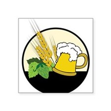"Beer Club Logo Square Sticker 3"" x 3"""