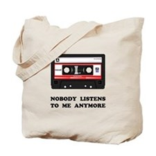 Nobody Listens Cassette Tote Bag