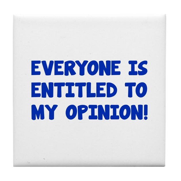 Everyone is entitled to his opinion, but false statements—not so much