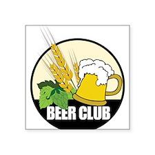 "Beer Club Square Sticker 3"" x 3"""