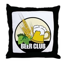 Beer Club Throw Pillow
