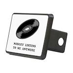 Nobody Listens Vinyl Rectangular Hitch Cover