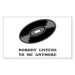Nobody Listens Vinyl Sticker (Rectangle 50 pk)