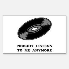 Nobody Listens Vinyl Decal