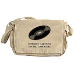 Nobody Listens Vinyl Messenger Bag