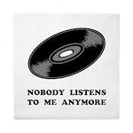 Nobody Listens Vinyl Queen Duvet