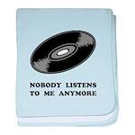 Nobody Listens Vinyl baby blanket