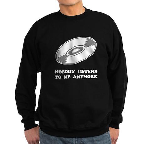 Nobody Listens Vinyl Sweatshirt (dark)