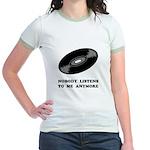 Nobody Listens Vinyl Jr. Ringer T-Shirt