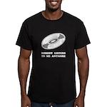 Nobody Listens Vinyl Men's Fitted T-Shirt (dark)