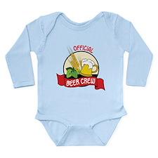 Beer Crew Long Sleeve Infant Bodysuit