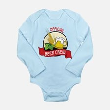 Beer Crew Long Sleeve Infant Bodysuit