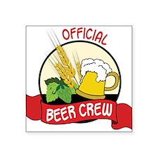 "Beer Crew Square Sticker 3"" x 3"""
