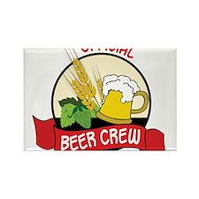 Beer Crew Rectangle Magnet