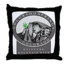Colorado Spring Cannabis Throw Pillow