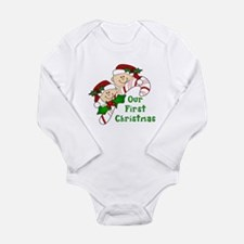 Twins First Christmas Candy Cane Body Suit