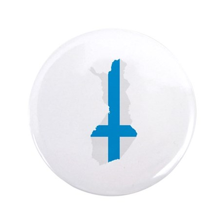 "Finland map flag 3.5"" Button (100 pack)"