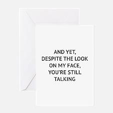 Still Talking Greeting Card