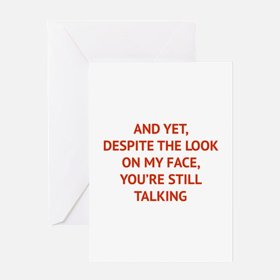 Still Talking Greeting Card