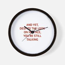 Still Talking Wall Clock