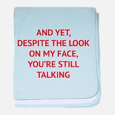Still Talking baby blanket