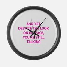 Still Talking Large Wall Clock