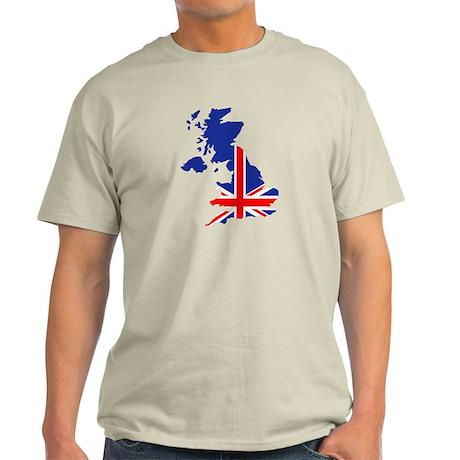 Great Britain UK map flag Light T-Shirt