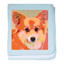 Reflection Sweet Dog Portrait baby blanket