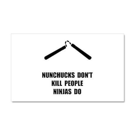 Nunchucks Ninja Car Magnet 20 x 12