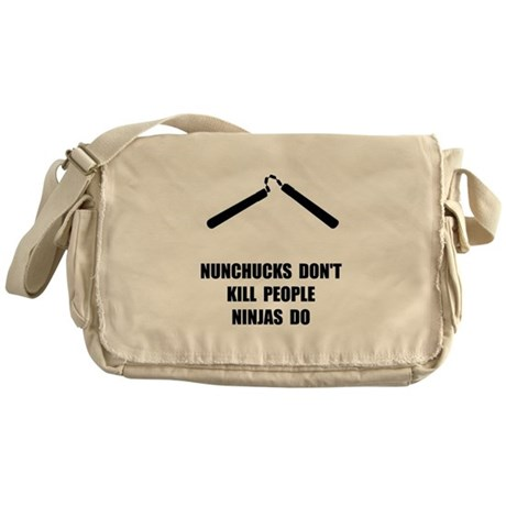 Nunchucks Ninja Messenger Bag
