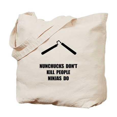 Nunchucks Ninja Tote Bag