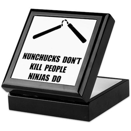 Nunchucks Ninja Keepsake Box