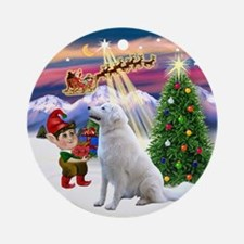 Santa's Take off & Kuvasz Ornament (Round)