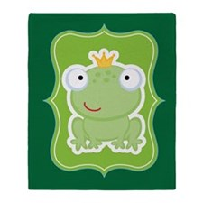 Frog Fairytale Throw Blanket