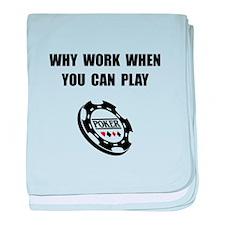 Play Poker baby blanket