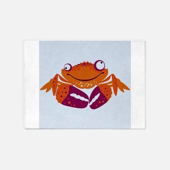 Crab 5 X7 Area Rug