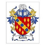 Leitch Coat of Arms, Family C Small Poster