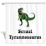Sexual Tyrannosaurus Shower Curtain