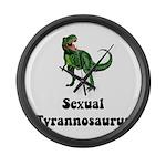 Sexual Tyrannosaurus Large Wall Clock