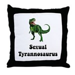 Sexual Tyrannosaurus Throw Pillow