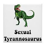 Sexual Tyrannosaurus Tile Coaster