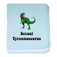 Sexual Tyrannosaurus baby blanket